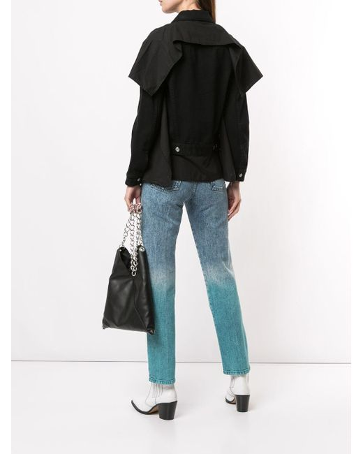 MM6 by Maison Martin Margiela レイヤード デニムシャツ Black