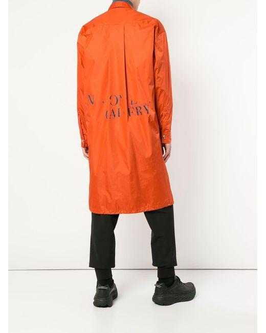 メンズ A_COLD_WALL* フーデッド コート Orange