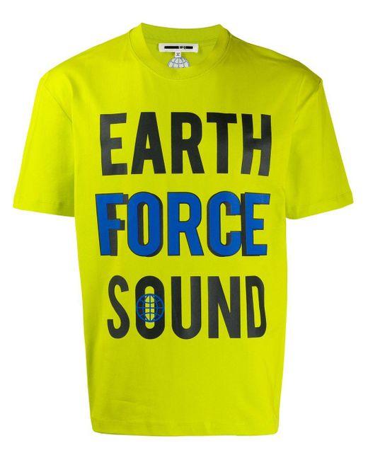 メンズ McQ Alexander McQueen Earth Tシャツ Yellow