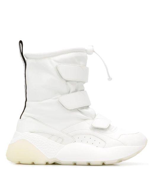 Stella McCartney Eclypse High Sneakers in het White