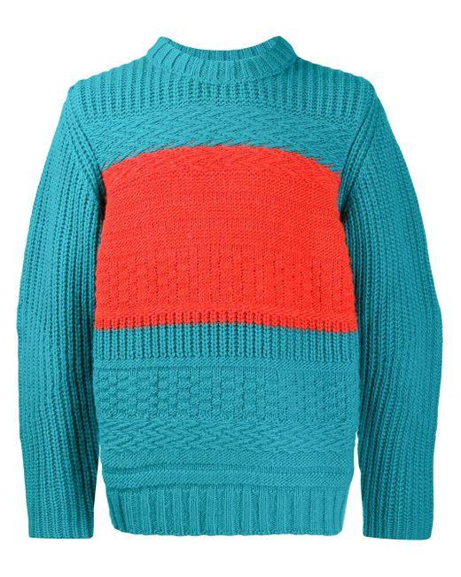 メンズ Paul Smith カラーブロック セーター Blue