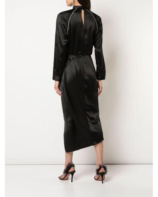 Michelle Mason ハイネック ドレス Black