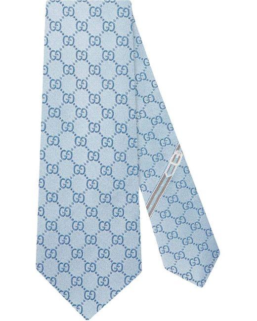 メンズ Gucci 【公式】 (グッチ)GGパターン シルクタイスカイブルー シルクブルー Blue