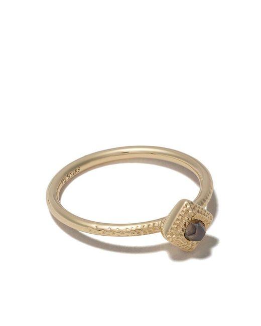 De Beers Metallic 18kt Yellow Gold Talisman Rough Diamond Ring