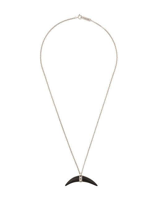Isabel Marant Metallic Horn Pendant Necklace
