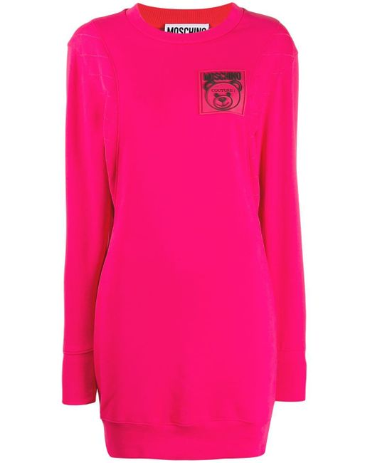 Moschino ロゴ スウェットドレス Pink