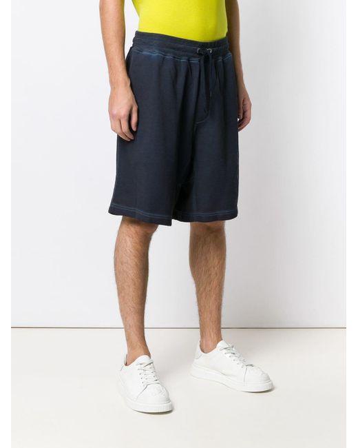 Short de sport à logo imprimé Moschino pour homme en coloris Blue