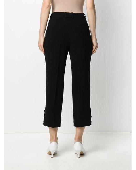 Pantalon Elisabeth crop Mulberry en coloris Black
