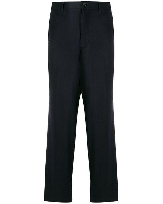 メンズ Yohji Yamamoto ルーズフィット パンツ Blue