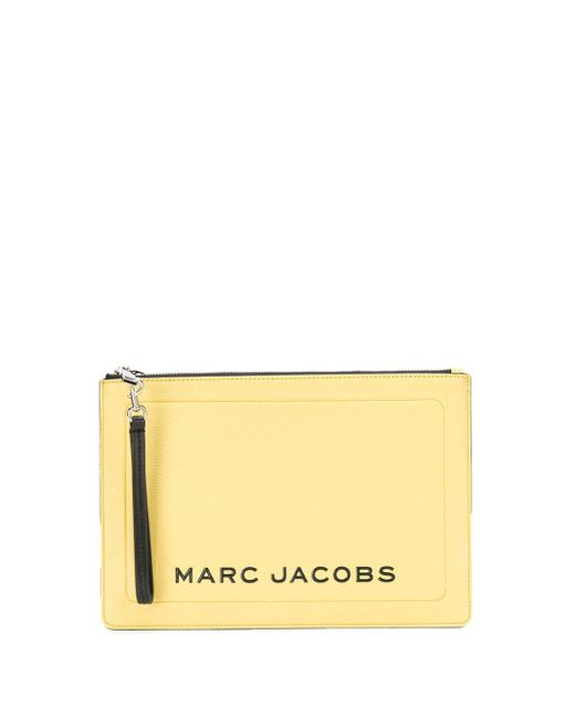 Marc Jacobs ロゴ クラッチバッグ Yellow