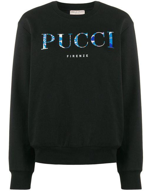 Emilio Pucci ロゴ スウェットシャツ Black