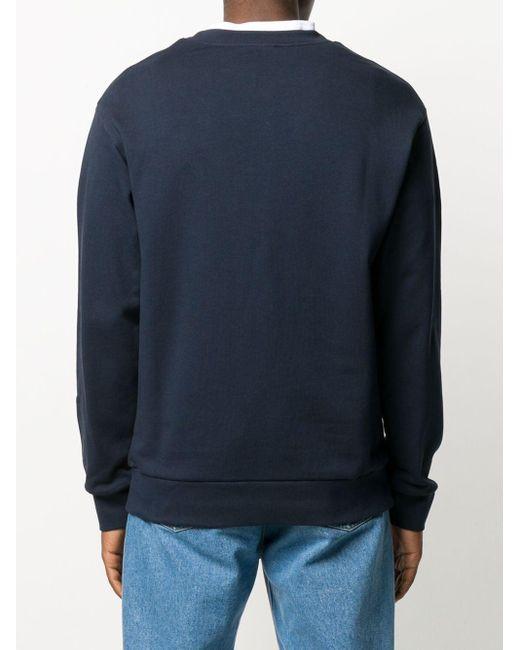 メンズ A.P.C. ロゴ スウェットシャツ Blue