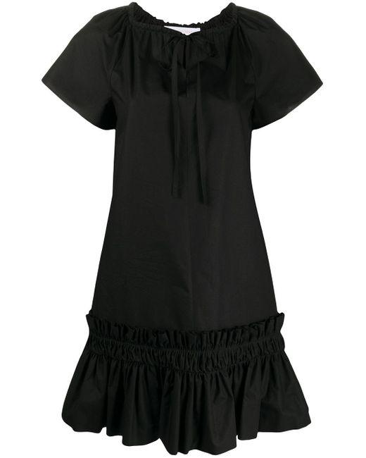 See By Chloé ペプラムドレス Black