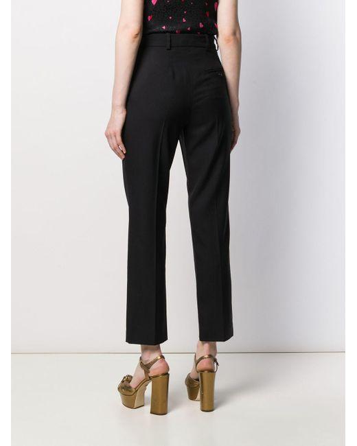Pantaloni crop a vita alta di Racil in Black