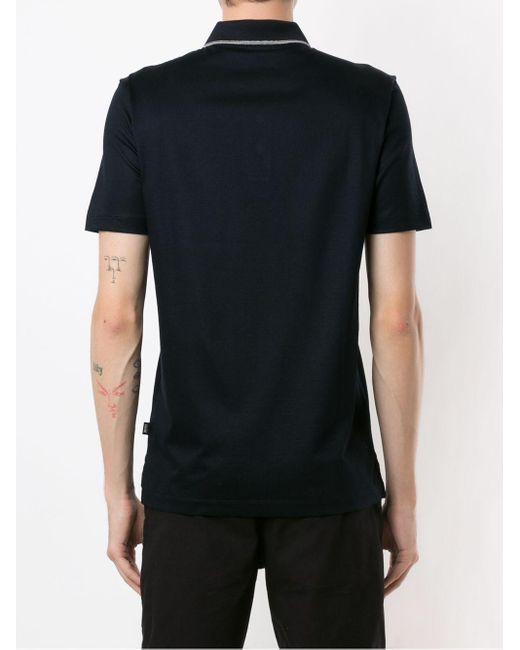 メンズ BOSS by Hugo Boss ストライプトリム ポロシャツ Black