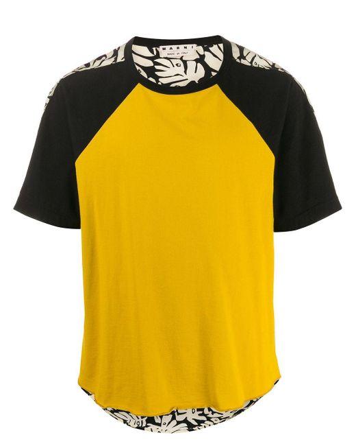 メンズ Marni プリント Tシャツ Yellow