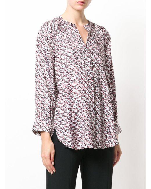 lyst dorothee schumacher patterned blouse. Black Bedroom Furniture Sets. Home Design Ideas