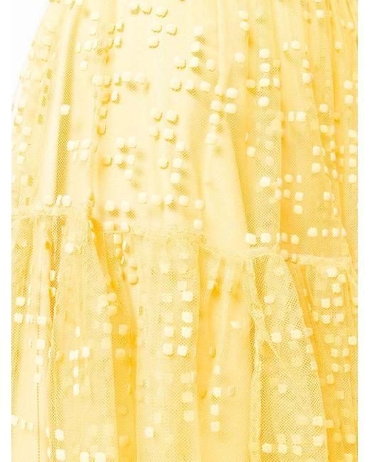 Si-jay チュール ミディスカート Yellow