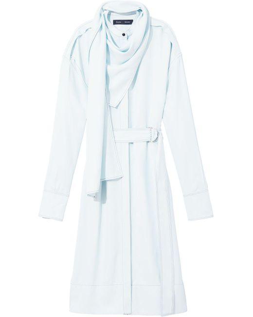 Платье С Длинными Рукавами Proenza Schouler, цвет: Blue