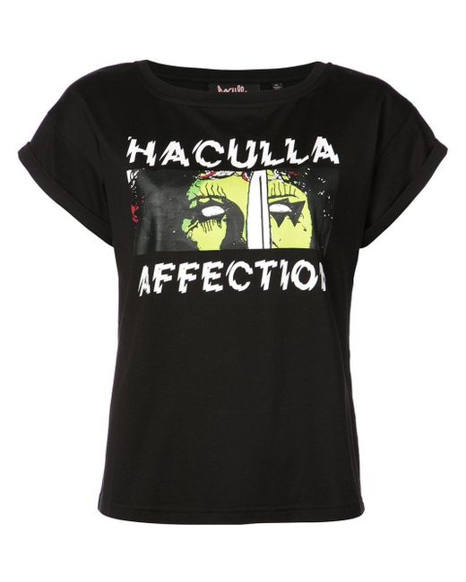 Haculla プリント Tシャツ Black