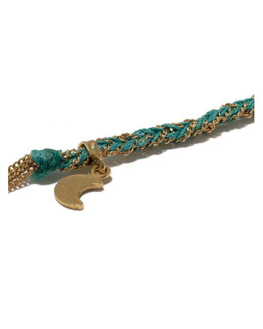Браслет Lucky Wisdom С Подвеской Из Желтого Золота С Бирюзой Carolina Bucci, цвет: Metallic