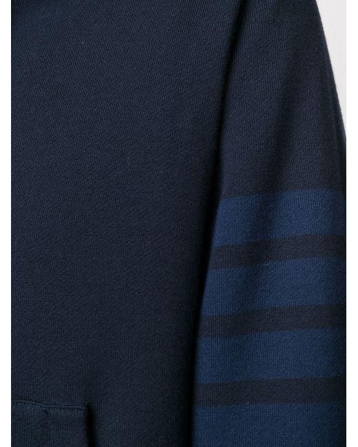 Худи С Полосками 4-bar Thom Browne для него, цвет: Blue