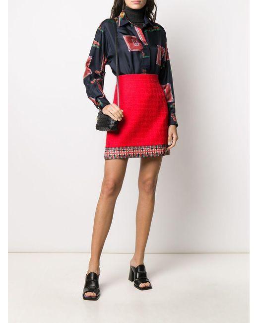Твидовая Юбка А-силуэта Gucci, цвет: Red