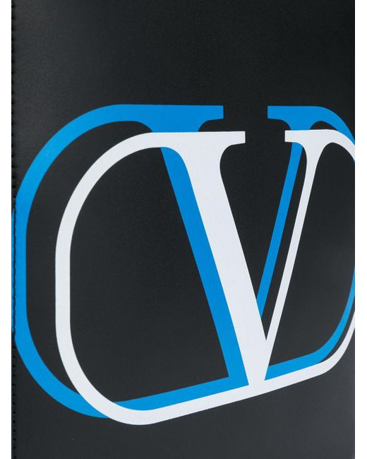メンズ Valentino Garavani Vロゴ メッセンジャーバッグ Black