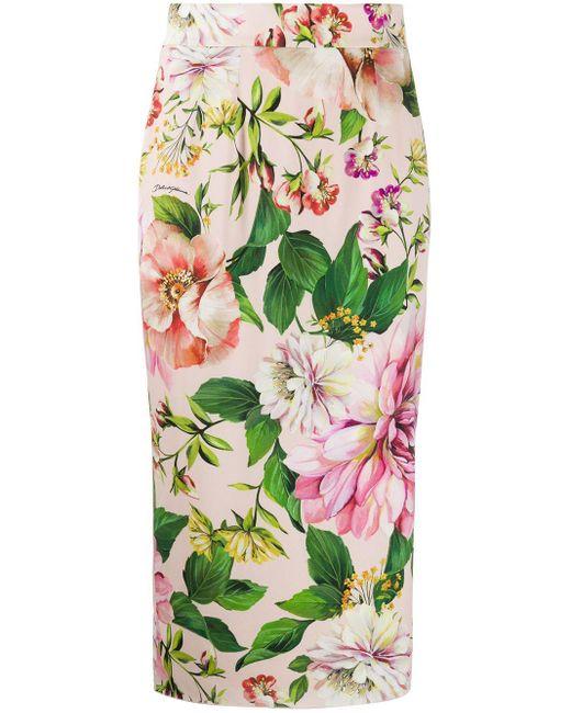Dolce & Gabbana ストレッチシャルムーズペンシルスカート Pink