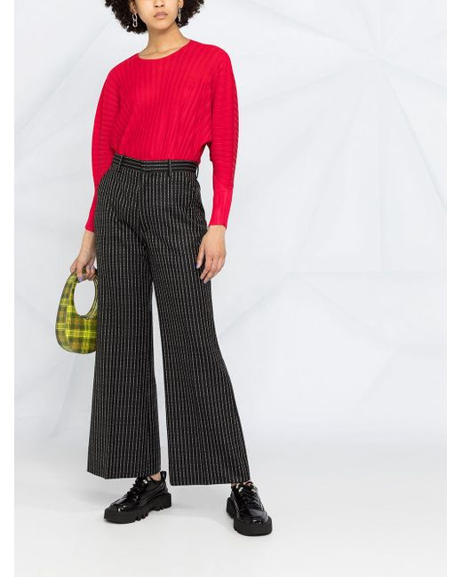 Pleats Please Issey Miyake プリーツ トップ Red