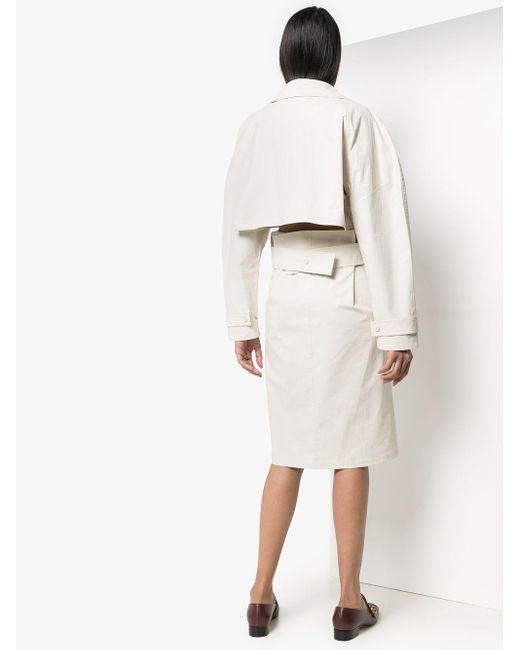 Bottega Veneta Tech トレンチ ドレス Natural