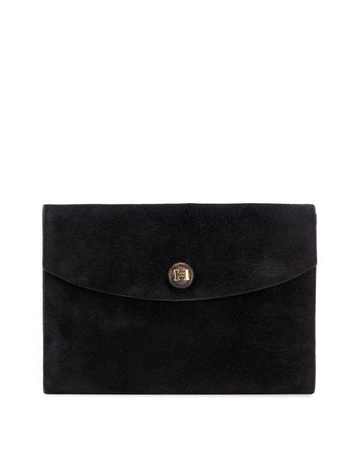 Клатч С Металлическим Логотипом 1977-го Года Hermès, цвет: Black