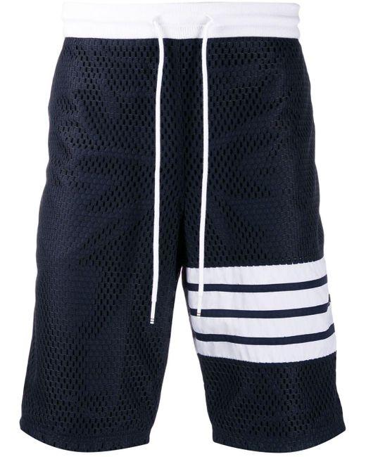 Сетчатые Спортивные Шорты Thom Browne для него, цвет: Blue