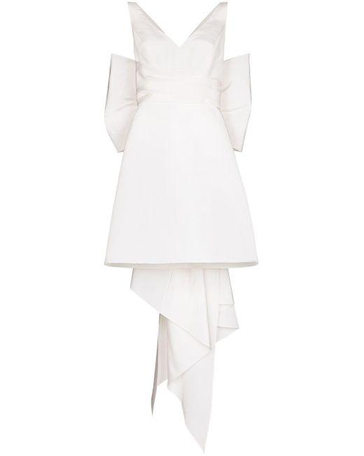 Carolina Herrera オーバーサイズリボン ミニドレス White