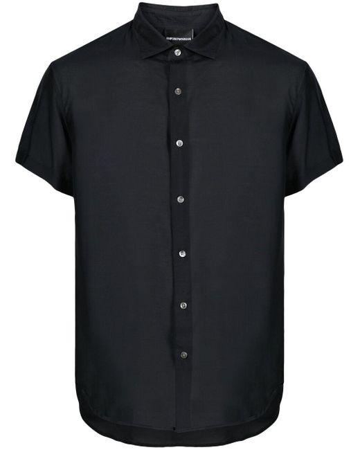 Рубашка С Короткими Рукавами Emporio Armani для него, цвет: Blue