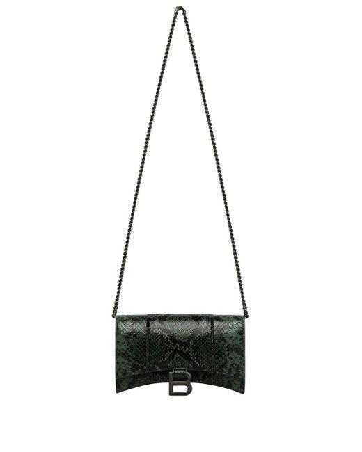 Balenciaga スネークスキンパターン クラッチバッグ Black