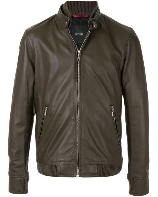 Loveless Brown Fitted Jacket for men