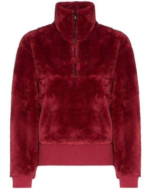Varley ジップ スウェットシャツ Red