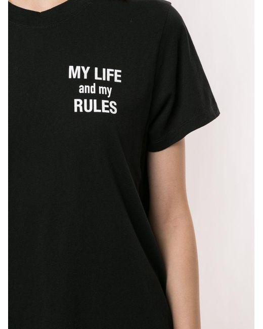 IRO プリント Tシャツ Black
