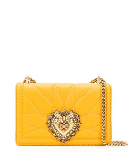 Dolce & Gabbana Devotion ショルダーバッグ Yellow