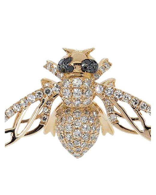 SHAY Bee ダイヤモンド ピアス 18kローズゴールド Metallic