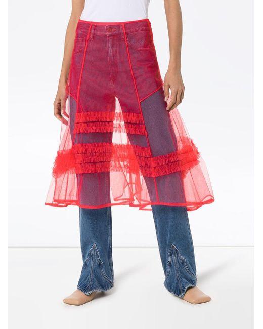 Molly Goddard フリル スカート Red