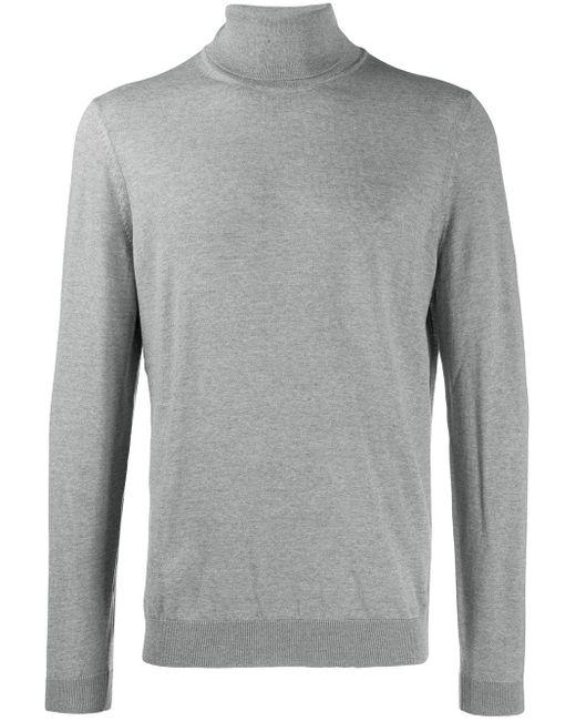 メンズ BOSS by Hugo Boss タートルネック セーター Gray