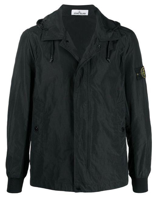 Куртка С Капюшоном И Нашивкой-логотипом Stone Island для него, цвет: Black