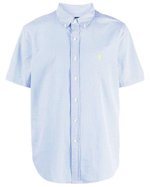 メンズ Polo Ralph Lauren チェック ショートスリーブシャツ Blue