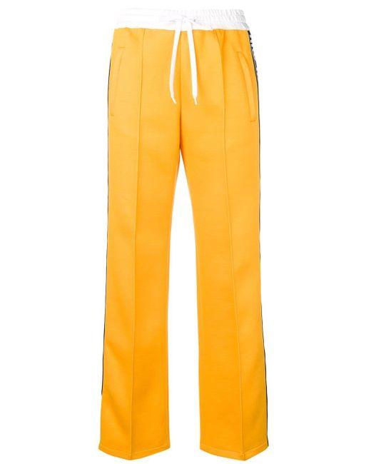 Miu Miu ロゴテープ トラックパンツ Yellow