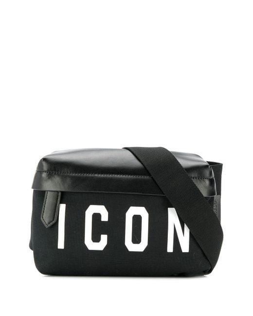 Поясная Сумка Icon DSquared² для него, цвет: Black