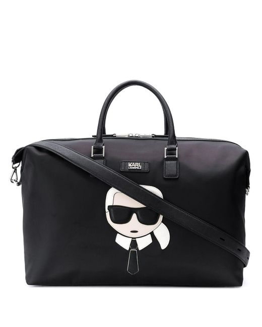 Karl Lagerfeld K/ikonik ボストンバッグ Black