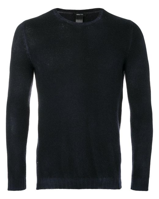 Avant Toi | Blue Ribbed Sweater for Men | Lyst