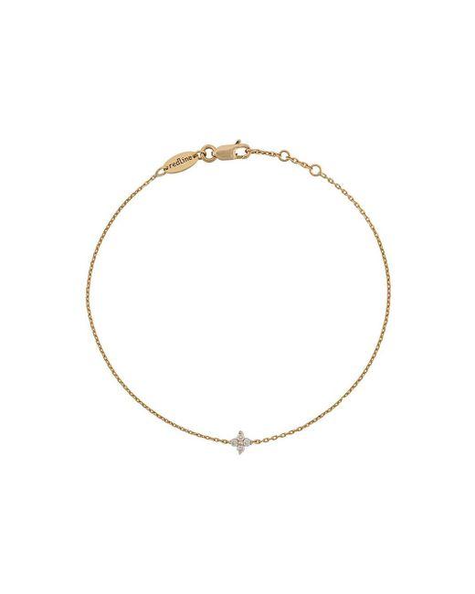 RedLine Metallic Shiny Four Diamonds Chain Bracelet